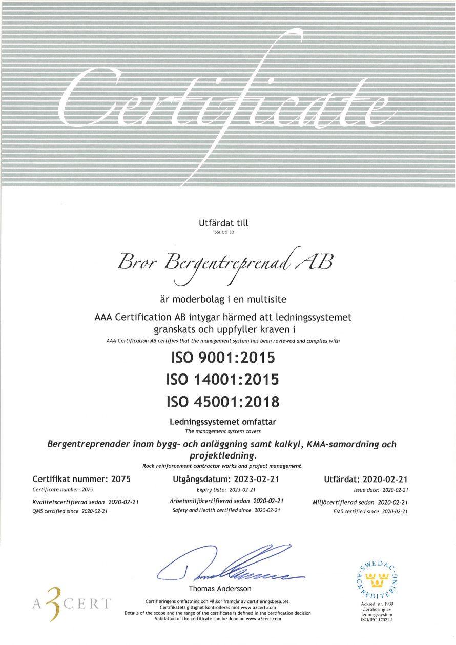 Certifikat Bror
