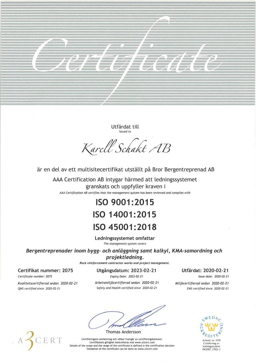 Certifikat Karell